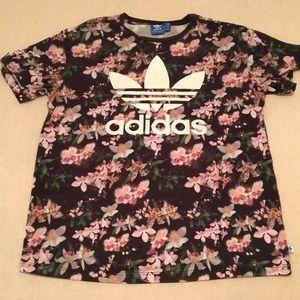ADIDAS floral t-shirt
